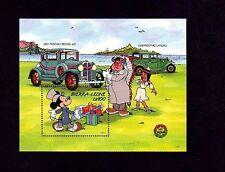 SIERRA LEONE - 1989 - DISNEY - CLASSIC CAR - PONTIAC - MICKEY - MINT S/SHEET!