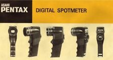 PENTAX DIGITAL SPOTMETER INST. MANUAL FREE SHIPPING