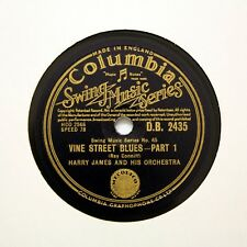 "Harry JAMES & LA SUA ORCHESTRA ""Vine Street Blues"" (e +) COLUMBIA DB-2435 [78 rpm]"