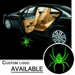 Pair Led Courtesy Door Welcome Logo Green Spider Projector Ghost Shadow Light