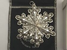 *Vintage GORHAM Sterling Silver Snowflake 1973 Christmas Ornament W/Box. Ba11066