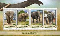 Togo - 2017 Elephants on Stamps - 4 Stamp Sheet - TG17109a