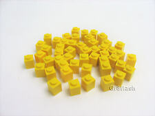 50x LEGO Yellow Brick 1x1 stud Classic Castle Town City Legoland #3005