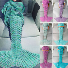 3 Pack!Mermaid Tail Crocheted Sofa Snuggie Blanket Carpet Knit Soft Warm Adult