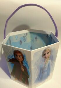 Disney Frozen 2 Elsa Halloween Candy Pail Easter Paperboard Basket Party Bucket