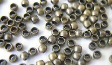 1000pcs Antiqued Bronze Rondelle Crimp Beads 2mm E122B