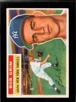 1956 TOPPS #52B BOB GRIM EX YANKEES WHITE BACKS *NY3462