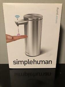 SimpleHuman Liquid Soap/Sanitizer Sensor Pump Dispenser & Soap Only - No Charger
