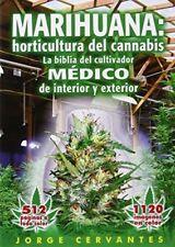Marihuana:horticultura de cannabis by Jorge Cervantes (Spanish) [Paperback] New