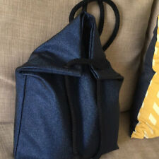 Glitter navy blue backpack for stylish women roomy tote bag for laptop