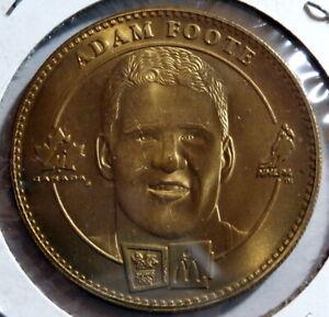 1998 McDonald's Winter Olympic Coins : Adam Foote & Eric Desjardine