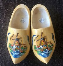 Pair of Authentic Wooden Clogs - Product of Holland - Size 19cm 28/29 - Windmill