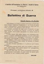 volantino bollettino guerra 1915-1918 comando Diaz Cremona Asiago Brenta Piave