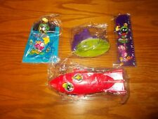 1998 Subway Complete Set of 4 Marvin the Martian Toys, New (A01)