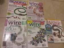 EUC Jewelry Making Books - Lot of 5  Magazines on beading, wire jewelry, +