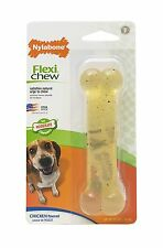 Nylabone Flexi Chew Chicken Flavored Dental Dog Bone Teeth Chewer Toy Wolf