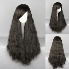 Ladieshair Cosplay Wig Perücke schwarz 70cm lockig Halloween Karneval F7t