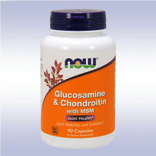 NOW GLUCOSAMINE CHONDROITIN MSM (90 CAPSULES) joint support mobility comfort
