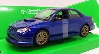 Welly 1/24-27 Scale Model Car 22487NS-W - Subaru Impreza WRX STI - Blue