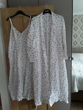 M & S matching long nightie and dressing gown cotton