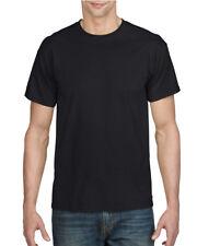 BLACK MENS DRYBLEND CREW NECK T-SHIRT - Gildan Poly/Cotton Plain T SHIRT, GD07