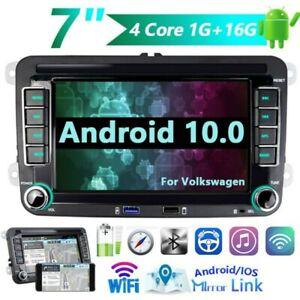 "For VW Golf MK5 MK6 Jetta 7"" Andriod 10.0 Car Stereo Radio Sat Nav GPS Bluetooth"
