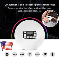 Portable Bluetooth HIFI Stereo Bass Walkman CD Music Player with Earphones US