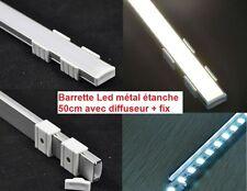 Barrette métal étanche strip de LED 50 cm ! 36 Leds Blanches Triples 12V TOP
