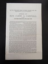 Speech of Hon. James A. Garfield, of OH in the House of Representatives 1876