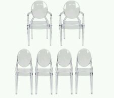 Ghost Dining Room Complete Furniture Set Of (6)Chairs (2)Arm &(4) Side  CHAIRS!!