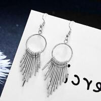 Women Bohemian Long Tassel Fringe Drop Dangle Hook Earrings Jewelry