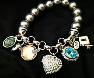 AVON Collectible Pearl Charm Bracelet