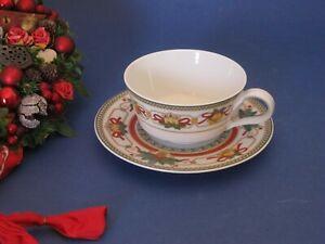 HUTSCHENREUTHER  LOUVRE Weihnachtsservice   Teetasse mit Untertasse wie neu