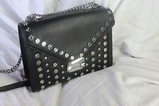 """Michael Kors """"Whitney"""" LG Shoulder Leather Bag in Black"""