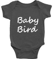 Infant Baby Rib Bodysuit Jumpsuit Romper Clothes Beautiful Black Crow Raven Bird