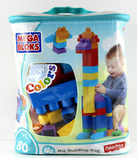 Mega Bloks First Builders Big Building Bag 80 pcs New Colours 1-5 years New