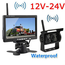 "Wireless Reversing Backup Rear View Camera System+7""TFT LCD HD Monitor For Truck"