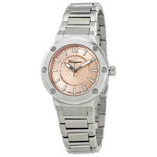 Ferragamo F-80 Pink Dial Stainless Steel Ladies Watch FIG030015