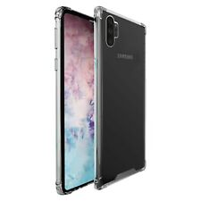 Galaxy Note 10+ Case, Clear Protective TPU Shockproof Slim Bumper Phone Cover