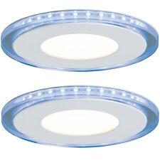 Paulmann 927.96 2er Set LED Einbaupanel Einbauleuchte 2x7W Warmweiß Blau rund