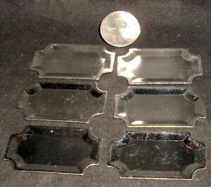 Dollhouse Mini Silver Serving Trays Tray Kitchen Set 6 1:12 #FA70809 Cooking