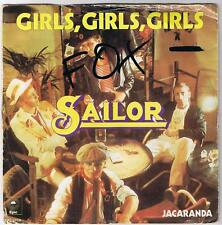 SAILOR - GIRLS, GIRLS, GIRLS / JACARANDA - SINGLE - SCHALLPLATTE - 1976