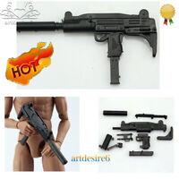 "1/6 Soldier Assembled Puzzle Gun Model Jedi Survival UZI Submachine F12"" Figure"