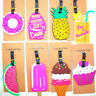 Cartoon Luggage Baggage Tags Labels Name Address ID Suitcase Travel Accessories