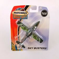 Matchbox Sky Busters Search Plane Die Cast Metal Airplane Mattel 2003 New