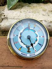 Horloge des marées laiton cadran couleur en Français neuve diametre 11,5cm