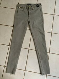 ABERCROMBIE & FITCH NWT! SIGNATURE COLLECTION Khaki SUPER SKINNY JEAN Sz 24