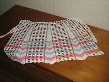 Vintage Style NEW Crocheted HALF APRON Beautiful Hostess Apron CROCHET