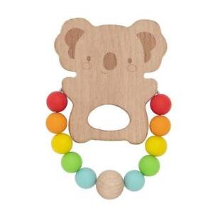 NEW Tiger Tribe Wooden Silicone Teether - Koala Childrens Art Craft Activity