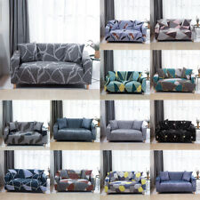 1-4 Seaters Stretch Chair Sofa Cover Geometry Couch Elastic Slipcover Protector
